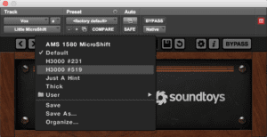 Best Chorus Plugin: Soundtoys Little MicroShift - Crē•8
