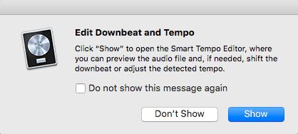 Logic Pro X Apple Untagged Loops tutorial edit downbeat show