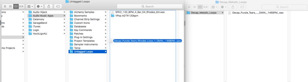 Logic Pro X Apple Untagged Loops tutorial multiple windows