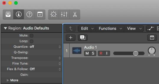 Logic Pro X Apple Untagged Loops tutorial Audio window default