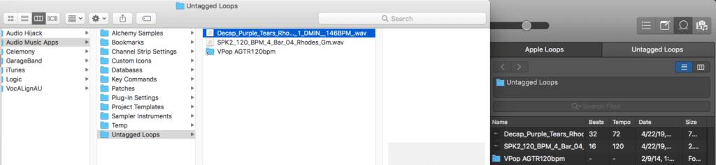 Logic Pro X Apple Untagged Loops tutorial app files
