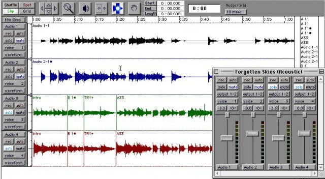 DAW | Pro Tools Screen