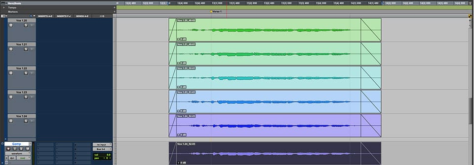 Pro Tools Screen
